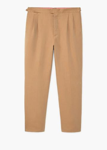 Mango Man Mango Man Cotton Linen-blend Trousers