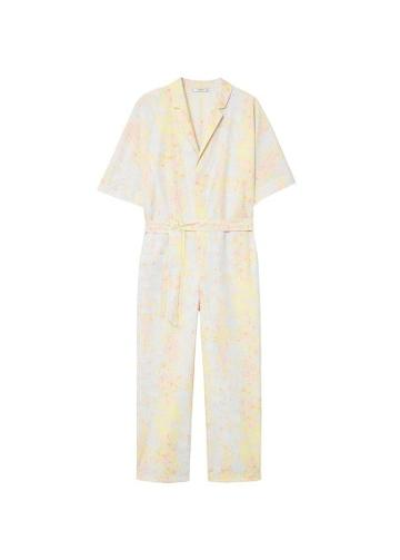 Mango Mango Printed Organic Cotton Jumpsuit