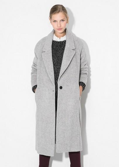 Mango Long Mohair-blend Coat