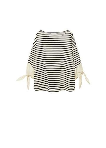 Violeta By Mango Violeta By Mango Bows Striped Sweatshirt