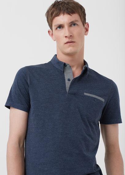 Mango Man Mango Man Chest-pocket Cotton Pocket Polo Shirt