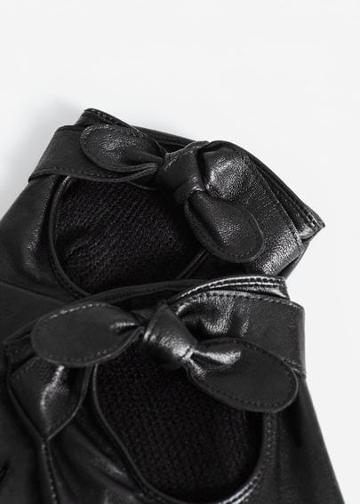 Mango Mango Leather Gloves