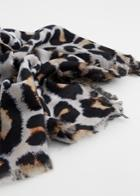 Mango Mango Leopard Print Scarf