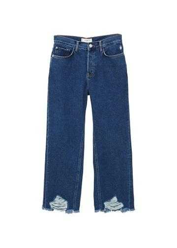 Mango Mango Frayed Finish Flare Jeans