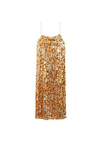 Mango Mango Sequined Midi Dress