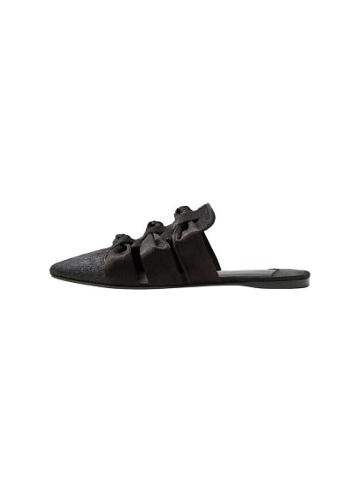Violeta By Mango Violeta By Mango Bow Leather Mules
