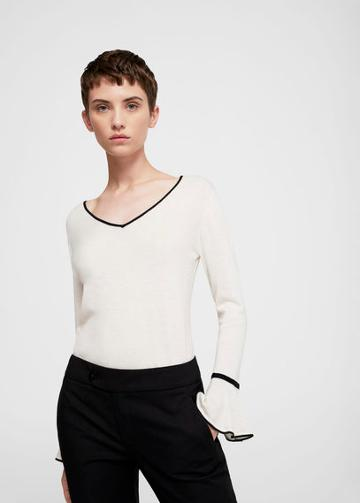 Mango Mango Flared Sleeve Cotton-blend Jumper