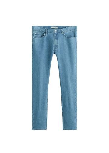 Mango Man Mango Man Slim-fit Faded Green Wash Patrick Jeans