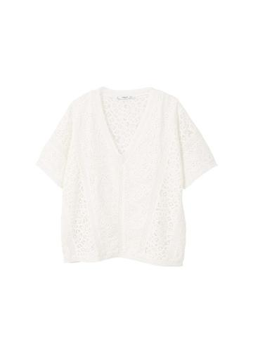 Mango Mango Openwork Cotton T-shirt