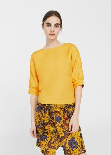 Mango Mango Back Bow Blouse