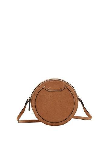 Violeta By Mango Violeta By Mango Round Leather Bag