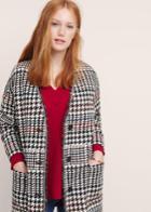 Violeta By Mango Violeta By Mango Houndstooth Cotton-blend Coat