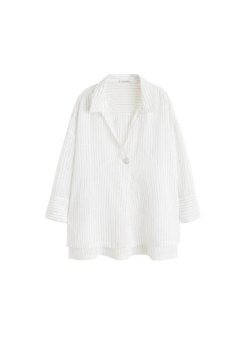 Violeta By Mango Violeta By Mango Buttoned Stripped Shirt