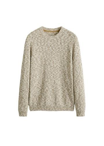 Mango Man Mango Man Cotton Mix Knit Sweater