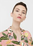 Mango Mango Tropical Print Shirt
