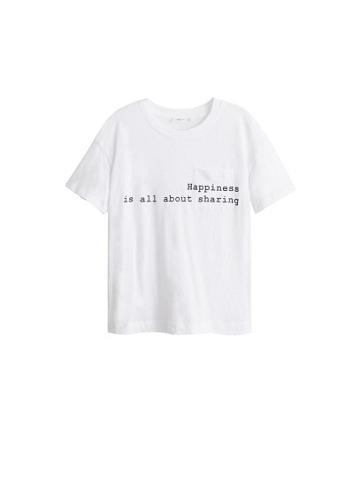 Mango Mango Pocket Message T-shirt