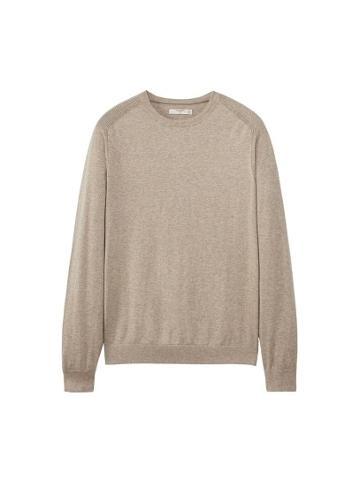 Mango Man Mango Man Contrast Cashmere-blend Sweater