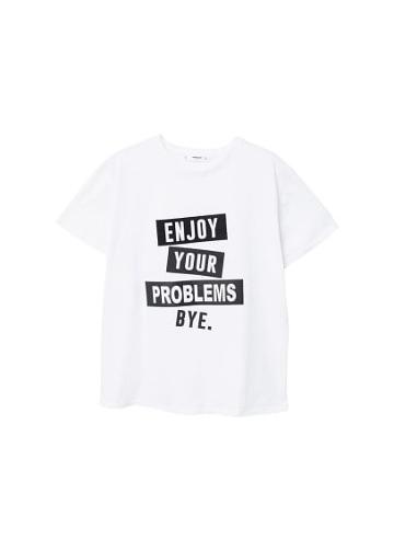 Mango Mango Printed Text T-shirt