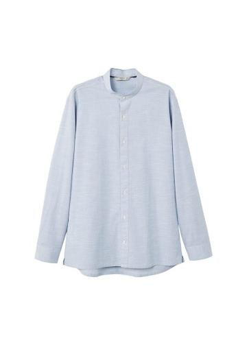 Mango Man Mango Man Regular-fit End-on-end Cotton Shirt