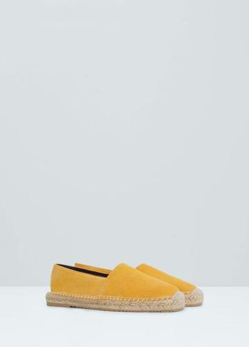 Mango Man Mango Man Leather Espadrilles
