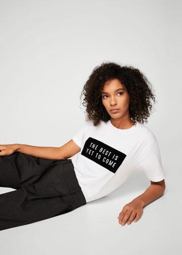 Mango Mango Velvet Message T-shirt