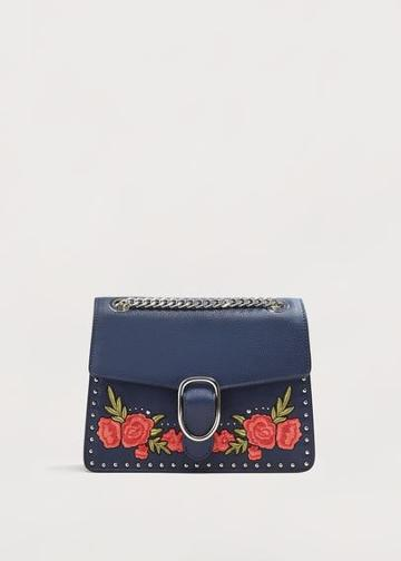 Violeta By Mango Violeta By Mango Floral Embroidery Bag