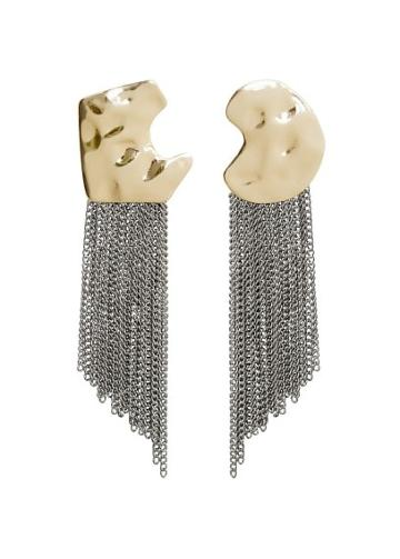 Mango Mango Asymmetric Chain Earrings