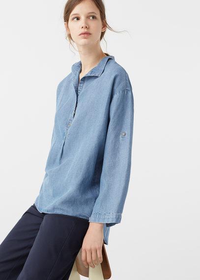 Mango Mango Oversize Soft Shirt
