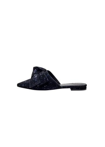 Violeta By Mango Violeta By Mango Sequins Bow Mule
