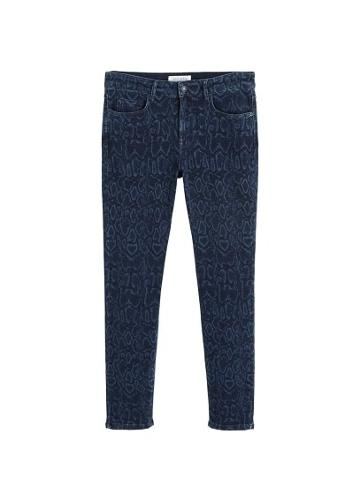 Violeta By Mango Violeta By Mango Slim-fit Snake Print Jeans