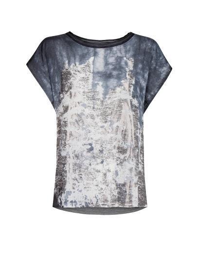 Mango Metallic Print T Shirt