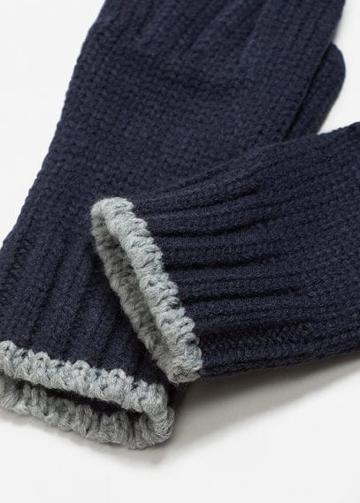 Mango Man Mango Man Ribbed Knit Gloves