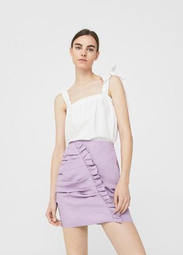 Mango Mango Ruffled Draped Skirt