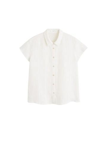 Mango Mango Striped Linen-blend Shirt