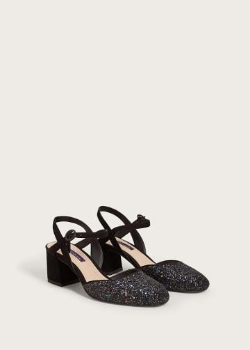 Violeta By Mango Violeta By Mango Heeled Sparkly Shoe