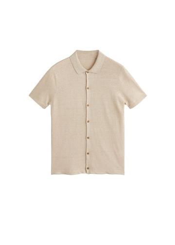 Mango Man Mango Man Silk Linen Knit Shirt