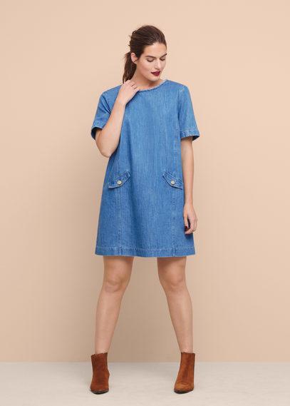 Violeta By Mango Violeta By Mango Medium Denim Dress