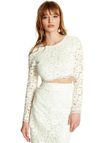 Marciano Piya Lace Crop Top