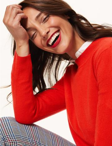 Marks & Spencer Round Neck Jumper Chilli