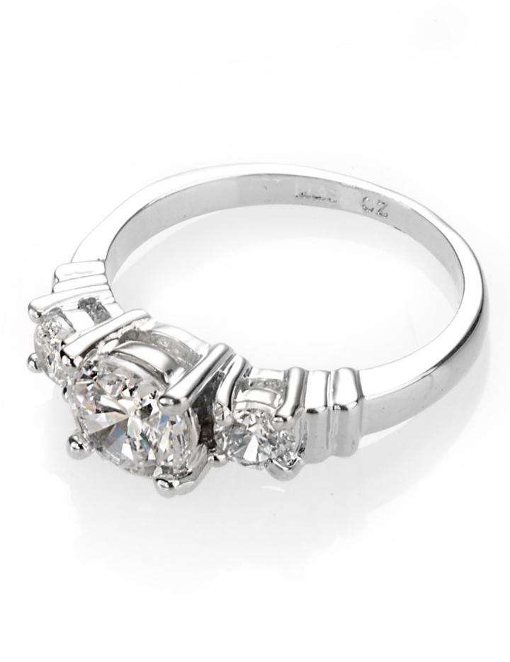 Marks & Spencer Platinum Plated Trio Classic Diamant Ring White Mix