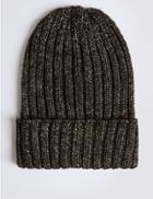 Marks & Spencer Metallic Beanie Hat Black Mix