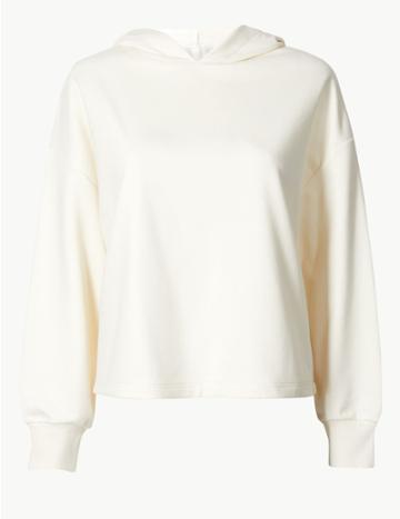 Marks & Spencer Long Sleeve Sweatshirt Cream