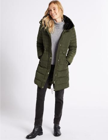 Marks & Spencer Padded Jacket With Stormwear™ Khaki