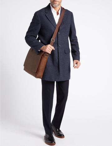 Marks & Spencer Pebble Grain Leather Messenger Tan