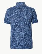 Marks & Spencer Pure Cotton Polo Shirt Blue Mix