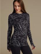 Marks & Spencer Merino Wool Blend Printed Thermal Top Multi