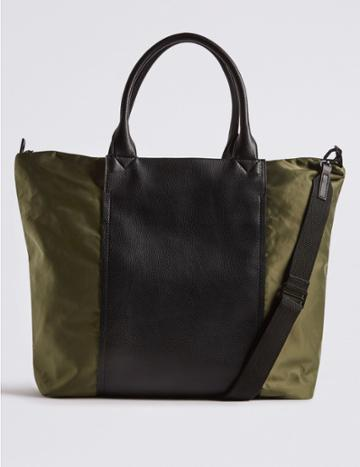 Marks & Spencer Shopper Bag With Stormwear™ Khaki Mix