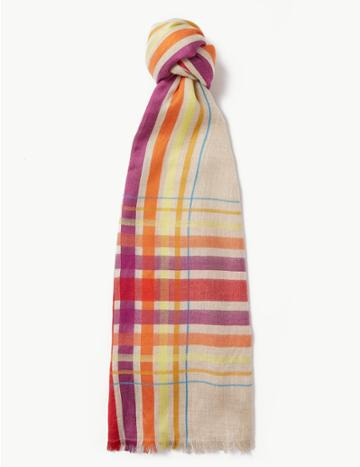 Marks & Spencer Checked Scarf Multi