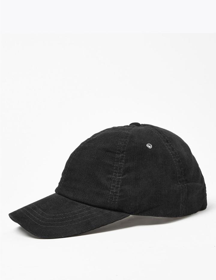 Marks & Spencer Cotton Corduroy Baseball Cap Black