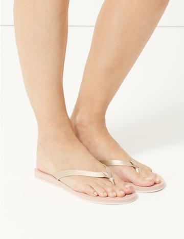 Marks & Spencer Open Toe Stripe Base Flip-flops Blush